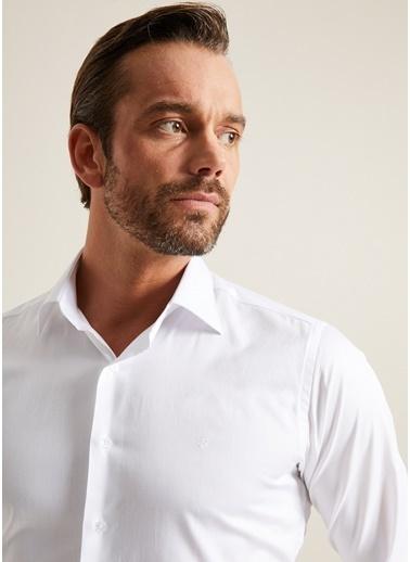 Bisse GM20K22125 Regular Fit Düz Klasik Gömlek Beyaz